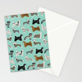Chinese Crested dog breed variety of coats dog breed dog owner must have gifts for dog person Stationery Cards