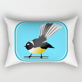 Fantail NZ BIRD Rectangular Pillow