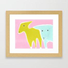Little Lamb Brothers Framed Art Print
