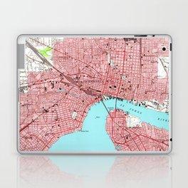 Vintage Map of Jacksonville Florida (1950) Laptop & iPad Skin