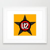 u2 Framed Art Prints featuring U2 by loveme