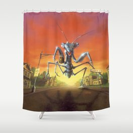 A Shocker on Shock Street Shower Curtain