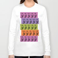 dean winchester Long Sleeve T-shirts featuring Dean Winchester Warhol Style by Sumisu Illustrations