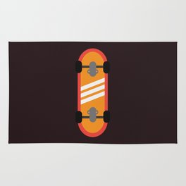 Orange Skateboard Rug