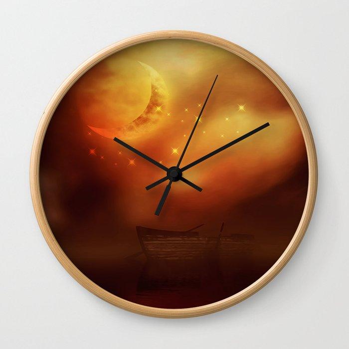 Blutmond 1 Wall Clock