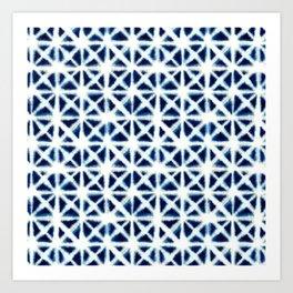 Shibori Triangles Art Print