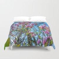 magnolia Duvet Covers featuring Magnolia by Ricarda Balistreri