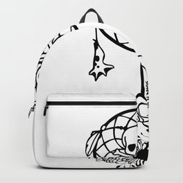 Halloween Dreamcatcher with Skull and Floral Pumpkin Backpack