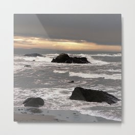 Another Stormy Day on the coast... Metal Print