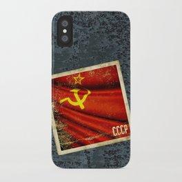 Sticker of Soviet Union (1922-1991) flag iPhone Case