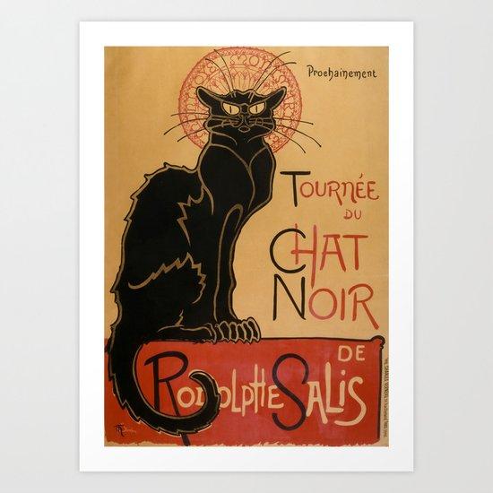 3298f0a4c01 Le Chat Noir The Black Cat Poster by Théophile Steinlen Art Print by  podartist