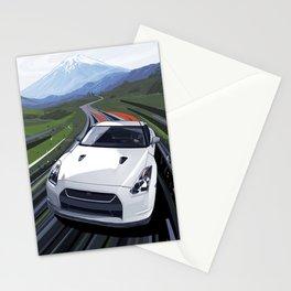 Skyline GT-R Race Car Illustration Art Print Stationery Cards