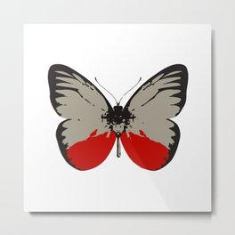 Butterfly Throw Pillows Metal Print