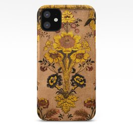 Golden Floral Tapestry iPhone Case