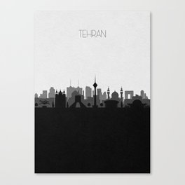 City Skylines: Tehran Canvas Print
