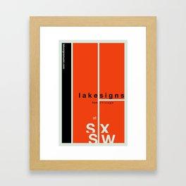 Lakesigns Poster - SXSW 2012 (1 of 4) Framed Art Print