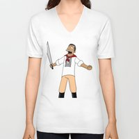 simpsons V-neck T-shirts featuring Andres Bonifacio Simpsons Style by Cesar Cueva