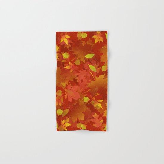 Autumn Leaves Carpet Hand & Bath Towel