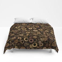 Steampunk cogwheels Comforters