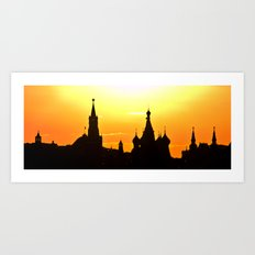 silhouette of Moscow Art Print
