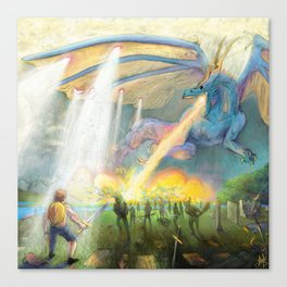 In League with Dragons #1 Canvas Print