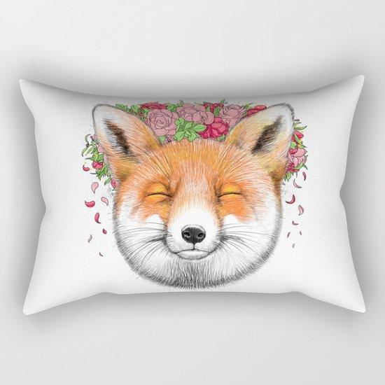 happy fox Rectangular Pillow
