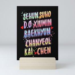 exo name Mini Art Print