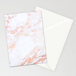 Rose Gold Blush Marble Stationery Cards