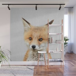 Baby Fox - Colorful Wall Mural