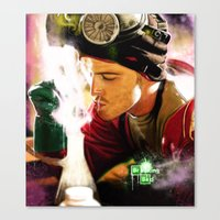 jesse pinkman Canvas Prints featuring Jesse Pinkman by p1xer