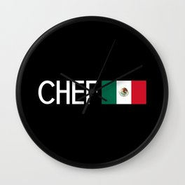 Chef (Mexican Flag) Wall Clock