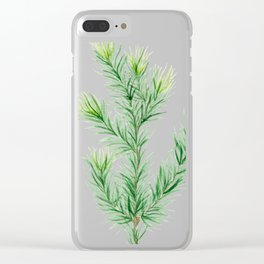 Pine Branch Clear iPhone Case