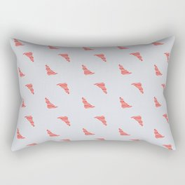 Red Tornados Rectangular Pillow