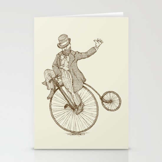 Flatland Penny Farthing Stationery Cards