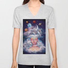 Spaced Unisex V-Neck