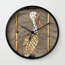 Pelican Mosaic Beach Art Wall Clock