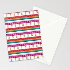 flower dot stripe Stationery Cards