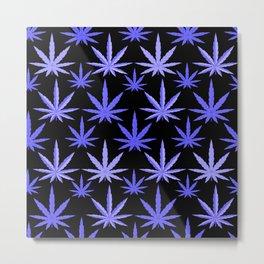 Marijuana Violet Blue Weed Metal Print