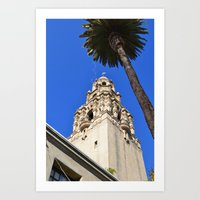 san diego Art Prints featuring San Diego by Chris Martin