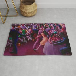 African-American Classical Masterpiece 'Nightlife' by Archibald Motley Rug