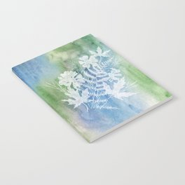 Cosmos Ferns Maples Blue Green Notebook