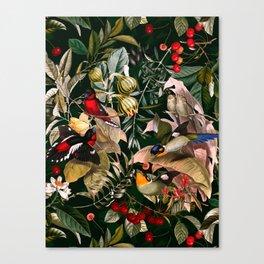 Floral and Birds XXV Canvas Print
