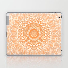 Orange Tangerine Mandala Detailed Textured Minimal Minimalistic Laptop & iPad Skin