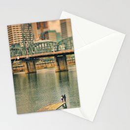 Lovers Under the Bridge Stationery Cards