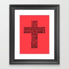 The base of it all it's love Framed Art Print