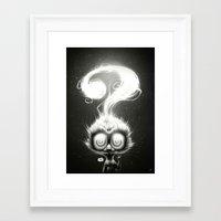 alisa burke Framed Art Prints featuring Question! by Dr. Lukas Brezak