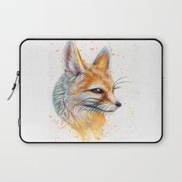 Splatter Paint Fennec Fox Laptop Sleeve