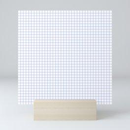 Blue Light Grid Mini Art Print