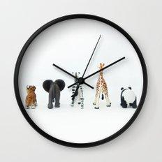 ANIMALS BACKS Wall Clock