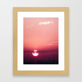 Dark Rose Dawn Framed Art Print